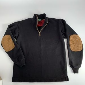 Woolrich Sweatshirt wit Elbow Patches. Sz. s